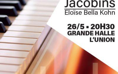 L'UNION REÇOIT PIANO AUX JACOBINS samedi 26 mai à 20h30 à la Grande Halle