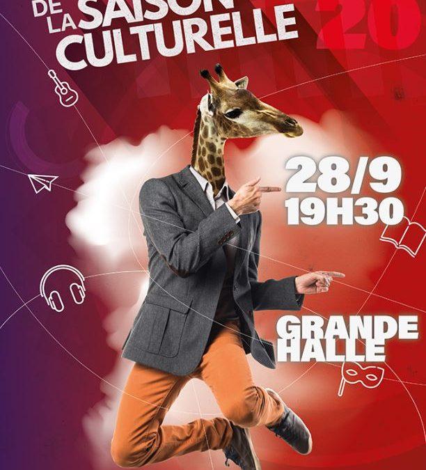 Présentation de la saison culturelle samedi 28 septembre à 19h30