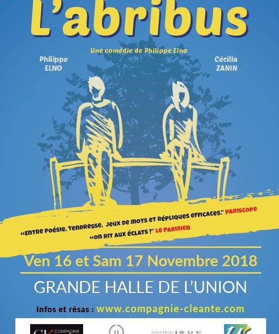 THÉÂTRE : L'Abribus vendredi 16 & samedi 17 novembre à la Grande Halle à 20h30
