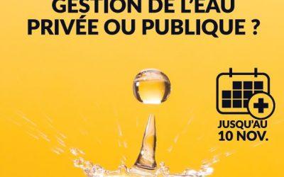 Gestion de l'eau – résultat de la votation citoyenne