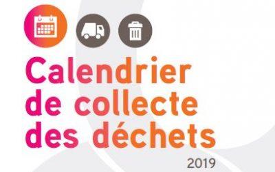 Calendrier de collecte des déchets 2019