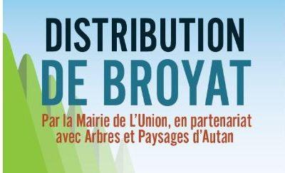 Opération de distribution de broyat