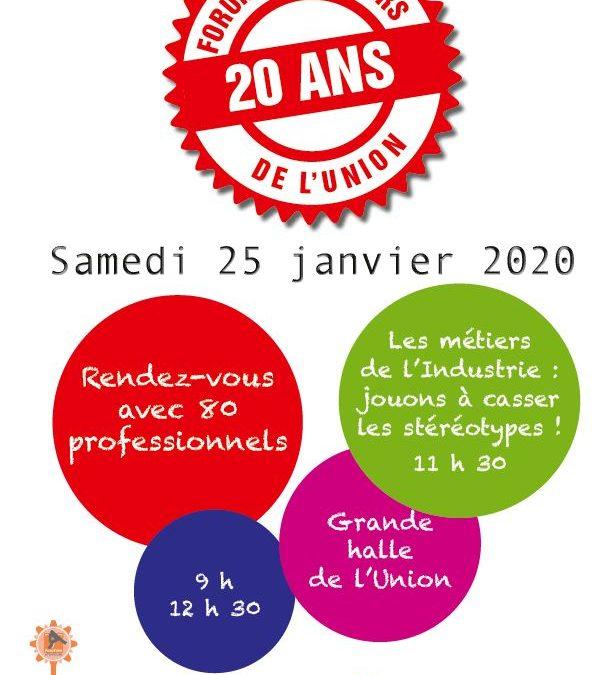 Forum des métiers samedi 25 janvier de 9h à 12h30 à la Grande Halle