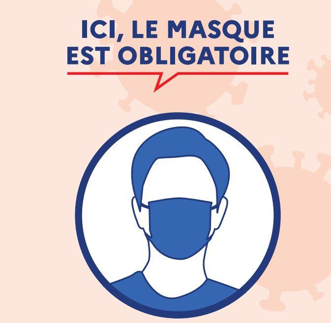 Actu Covid – masque obligatoire sur le marché de L'Union