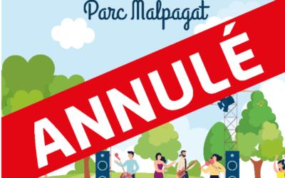 Fête du Parc annulée