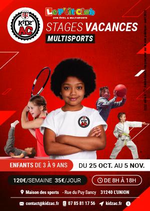 Stage Vacances multi-sports – Kid'Z Ac